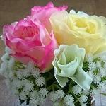 100均ダイソーの造花の残りでプチアレンジメントしてみたよ