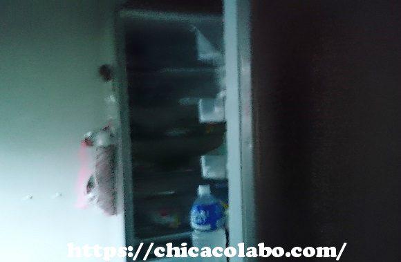 停電中の冷蔵庫