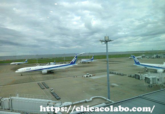 羽田空港の展望台からの眺め