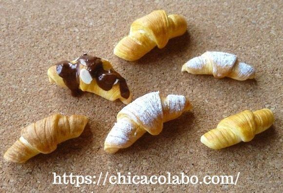 ミニチュア樹脂粘土クロワッサン